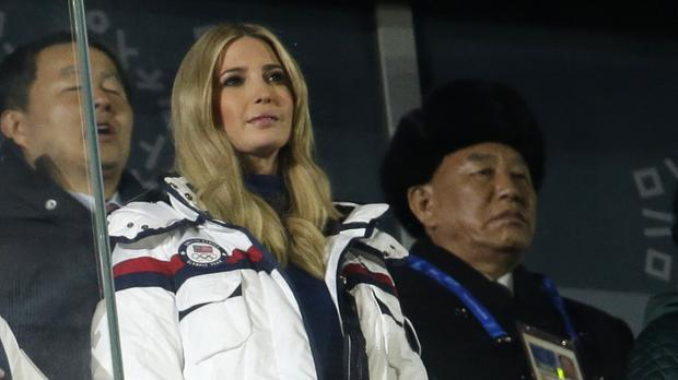 Donald Trump's daughter led the US delegation at the closing ceremony of the Pyeongchang Winter Olympics (AP)