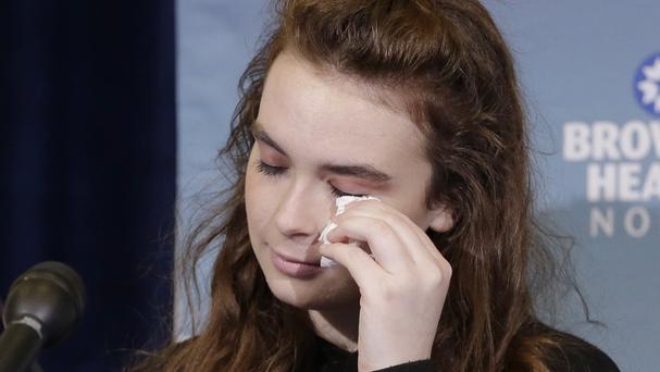 Marjory Stoneman Douglas High School shooting survivor Maddy Wilford told a press conference she will make a full recovery (AP)