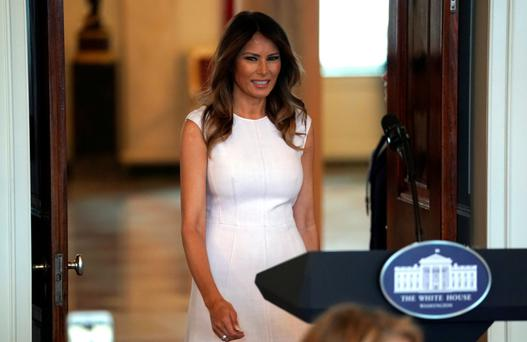 """At a White House luncheon, Melania Trump said children are the future and """"they deserve a voice."""" Photo: Reuters"""