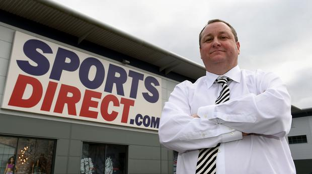 Mike Ashley's Sports Direct has increased its holding in Debenhams (PA)