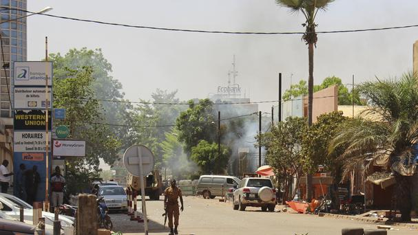 The attack hit the army HQ in the country's capital (AP)