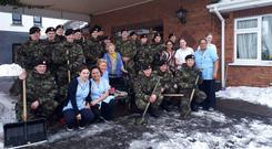 HELPING HAND: The Defence Forces turned out to help at Craddock House nursing home in Co Kildare