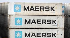 Stock picture of Maersk containers on a ship (Andrew Matthews/PA)