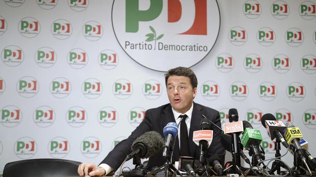 Mr Renzi is expected to formalise his resignation (AP)
