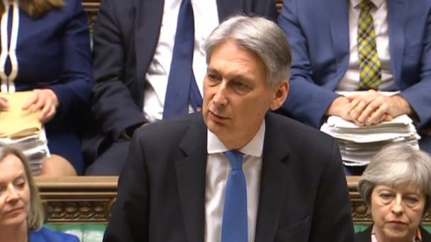 Chancellor of the Exchequer Philip Hammond delivers his first spring statement in the House of Commons, London, against a slew of positive economic indicators (PA)
