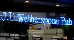 Wetherspoon released half-year results today (PA)