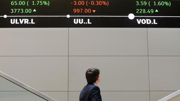 The FTSE 100 Index closed up 24.38 points at 7,164.14 (Nick Ansell/PA)