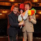 BUCK-TOOTHED GRIN: Ken Dodd with his waxwork at Madame Tussaud's in London.