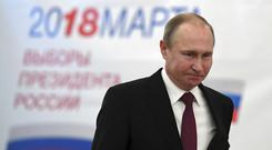 Russian President Vladimir Putin (Yuri Kadobnov/Pool Photo/AP)
