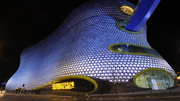 A picture of the Selfridges building at the Bullring Shopping Centre, (PA)