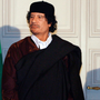 Libyan leader Muammar Gaddafi and French president Nicolas Sarkozy at a meeting in the Élysée Palace in 2007. Photo: AP