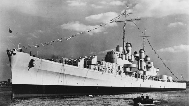 The USS Juneau, a Navy ship sunk by the Japanese 76 years ago, has been found in the South Pacific. (US National Archives/AP)