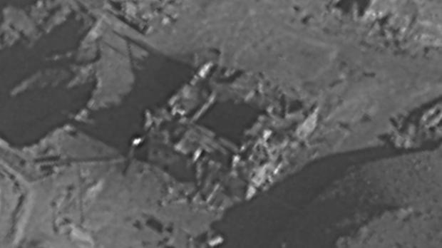 An image believed to show a nuclear reactor site that was destroyed by Israel (IDF via AP)
