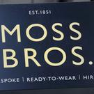A shop sign for MOSS BROS. in central London (PA)