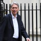 Chancellor of the Exchequer Philip Hammond at 10 Downing Street, London (PA)