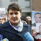 File photo of Ukrainian politician Nadiya Savchenko (Sergei Chuzavkov/AP)