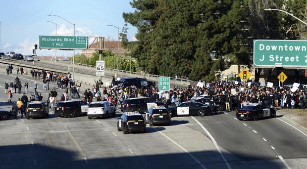 Angry protest over shooting of unarmed black man in California
