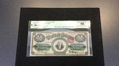 A 1,000 dollar bill printed in 1863 (Courtney Columbus/AP)