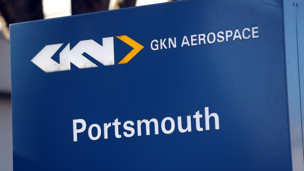 A sign for GKN Aerospace in Portsmouth, Hampshire (PA)