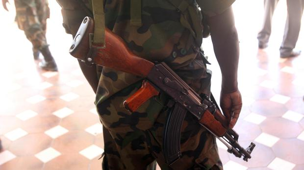 File picture of an armed guard iin Mogadishu, Somalia (Lewis Whyld/PA)