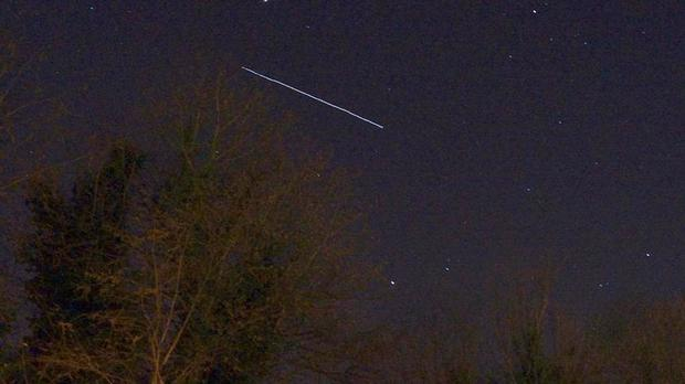 Stock picture of the International Space Station over Surrey (Joe Pickover/PA)