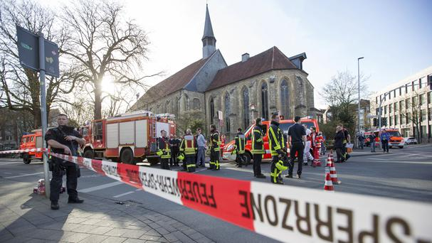 Police in Munster after the incident (Friso Gentsch/dpa via AP)