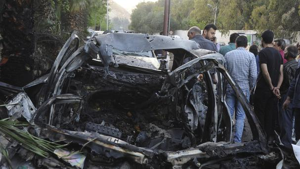 The report comes after an in the eastern suburbs of Damascus (AP)