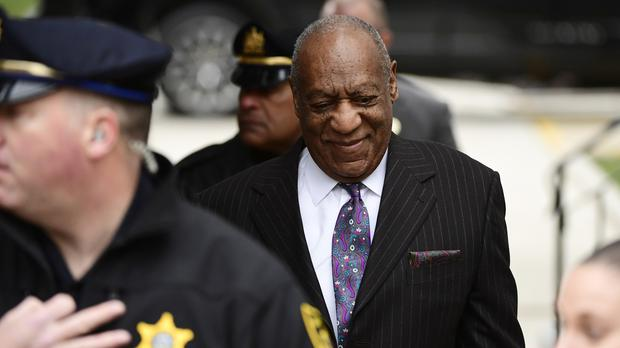 Bill Cosby arrives for his sexual assault trial at the Montgomery County Courthouse (Corey Perrine/AP/PA)