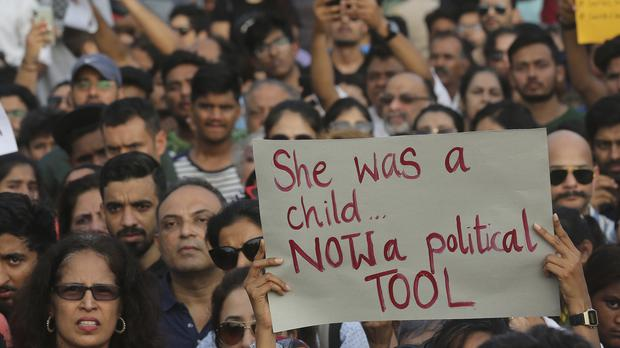 A protest against recent incidents of rape in Mumbai, India (Rafiq Maqbool/AP)