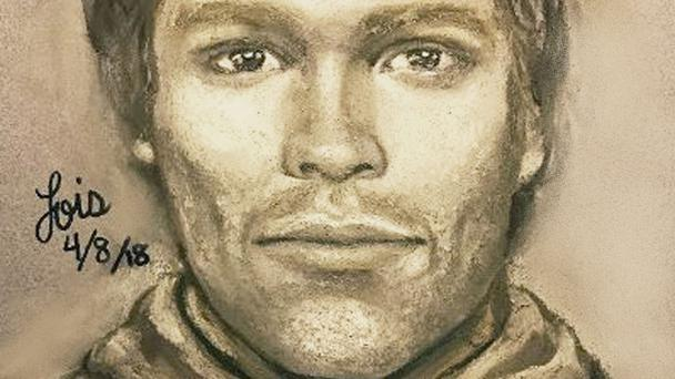 The sketch that reports to show the man that the adult film actress Stormy Daniels says threatened her (Michael Avenatti via AP)