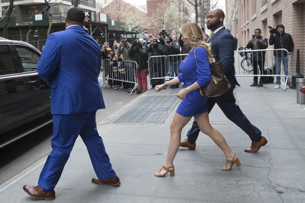 Adult film actress Stormy Daniels leaves ABC Television Studios (Mary Altaffer/AP)