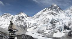 General view of Mount Everest in Nepal (David Cheskin/PA)