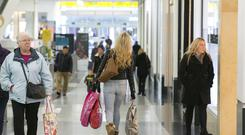 Shoppers hunt for deals at Centrale Shopping Centre in Croydon (John Phillips/PA)