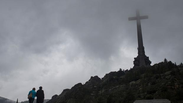The Valle de los Caidos (Valley of the Fallen), a controversial neoclassical mausoleum north-west of Madrid (AP)