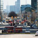 Emergency services close Yonge Street in Toronto (Nathan Denette/The Canadian Press via AP)