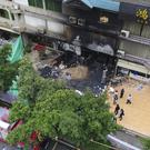 The scene of the karaoke bar after the fire (Deng Hua/Xinhua News Agency via AP)