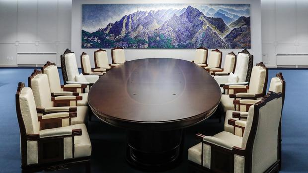 The venue for Friday's summit meeting between the leaders of North and South Korea (AP)