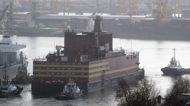 The floating nuclear power plant (Dmitri Lovetsky/AP)