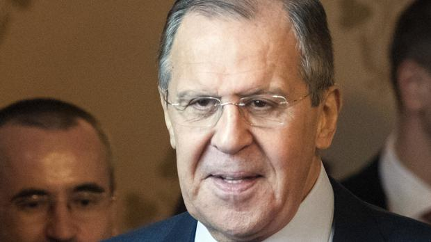 Russian foreign minister Sergey Lavrov criticised the US over Syria. (Pavel Golovkin/AP)
