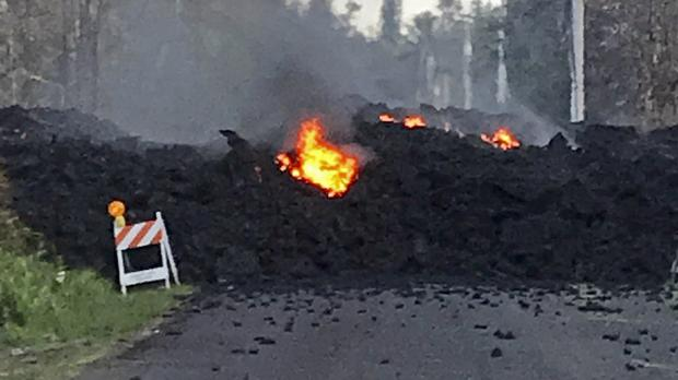 Hundreds of people have fled from their homes after Hawaii's Kilauea volcano erupted (Hawaii Electric Light via AP)