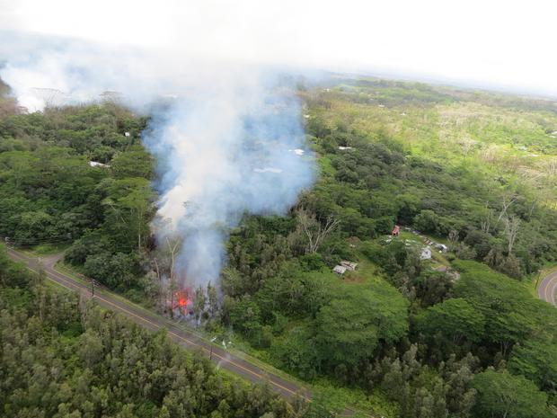 The Kilauea volcano has sent more lava into Hawaii communities over the weekend (US Geological Survey via AP)