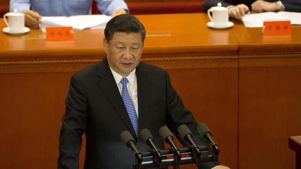 There has been some speculation that Xi Jinping may have met North Korean leader Kim Jong Un (AP)