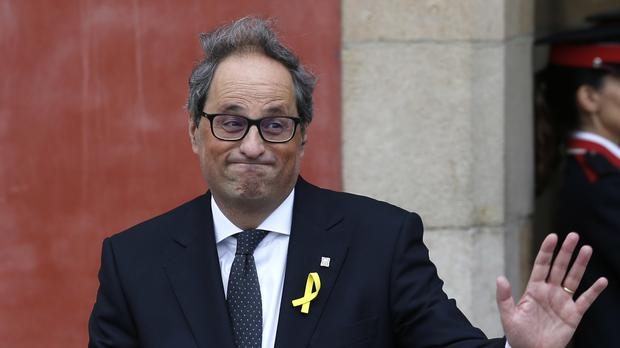 Newly appointed Catalan president Quim Torra (AP)