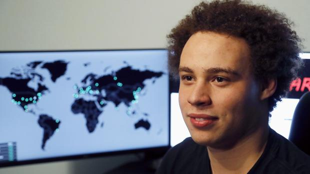 The British IT expert was hailed a hero for finding the 'killswitch' that stopped the WannaCry virus (AP)