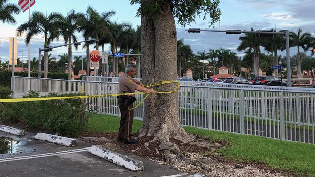 Police tape off an area by the Trump National Doral resort (AP Photo/Frieda Frisaro)