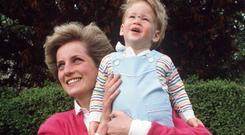HOPES AND DREAMS: Diana with the young Harry