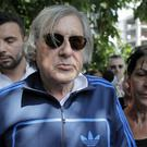 Ilie Nastase is released from police headquarters in Bucharest