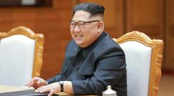 North Korean leader Kim Jong Un (Korean Central News Agency/Korea News Service/AP)