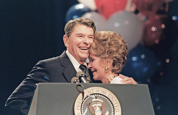 President Ronald Reagan and first lady Nancy in their 1980s heyday. Photo: Getty Images