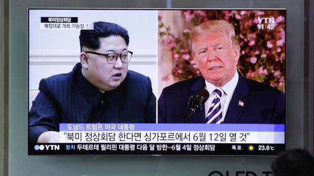 North Korean leader Kim Jong Un and US President Donald Trump (Lee Jin-man/AP)